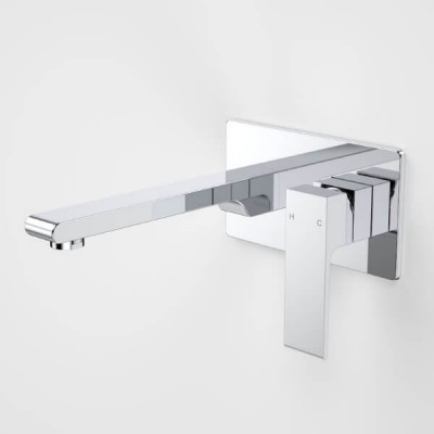 Caroma Aura Wall Basin Bath Mixer Rectangle 80210C5A