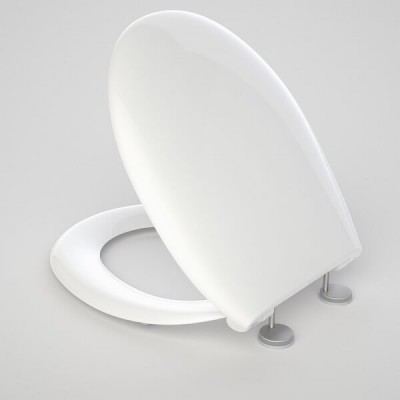 Caroma Caravelle Care Toilet Seat White Double Flap 254008W