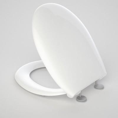Caroma Caravelle Care Toilet Seat White Double Flap 254008W