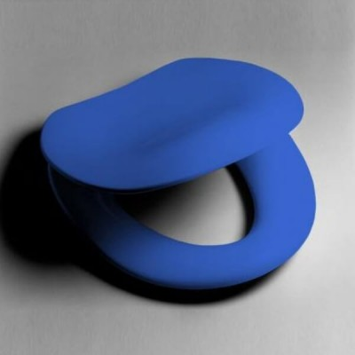 Caroma Colani Care Toilet Seat Double Flap Sorrento Blue Blind Fix Hinge 813100SB