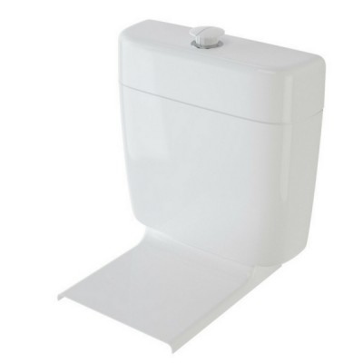 Caroma Cosmo II Care Dual Flush Connector Toilet Cistern & Seat 4.5/3 Litre 235019W