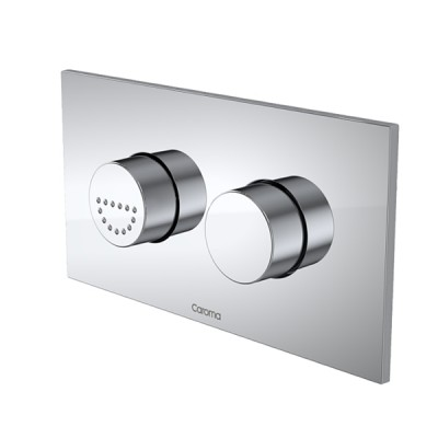 Caroma Invisi II Inwall Cistern Care Dual Flush Buttons Chrome 237011C