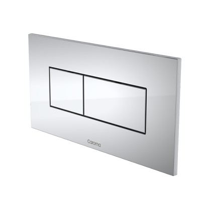 Caroma Invisi II Inwall Cistern Dual Flush Button Chrome 237020C