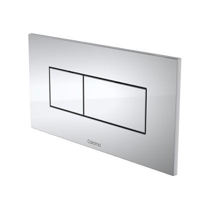 Caroma Invisi II Inwall Cistern Dual Flush Button Chrome 237020C