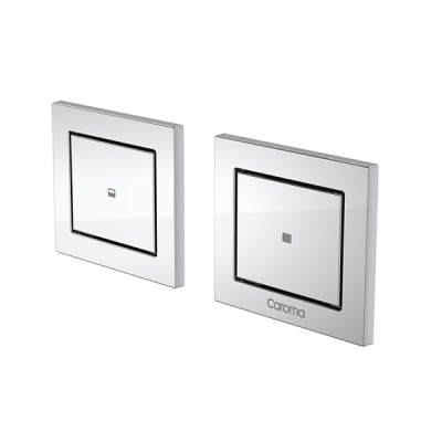 Caroma Invisi II Inwall Cistern Dual Flush Custom Button Chrome 237023C