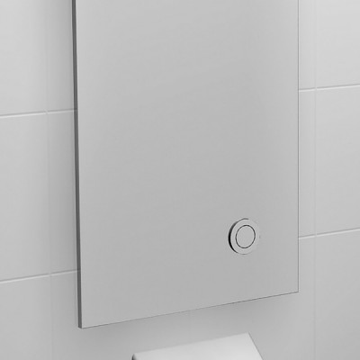 Caroma Invisi II Inwall Cistern Large Access Panel Single Flush Bottom Push 237032