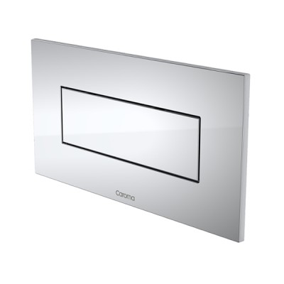 Caroma Invisi II Inwall Cistern Rectangle Single Flush Button Chrome 237021C