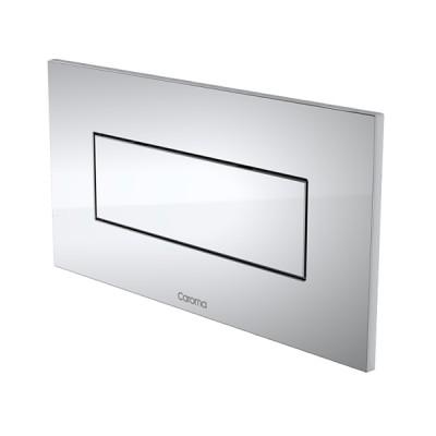 Caroma Invisi II Inwall Cistern Rectangle Single Flush Button Chrome 237021C