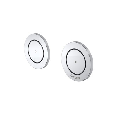 Caroma Invisi II Inwall Cistern Round Dual Flush Custom Button Chrome 237013C