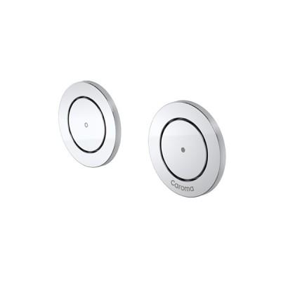 Caroma Invisi II Inwall Cistern Round Dual Flush Custom Button Chrome 237013C