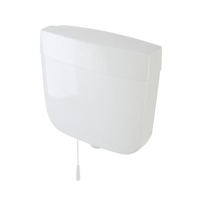 Caroma Slimline Pull Cord Urinal Cistern Single Flush Plastic 233031W