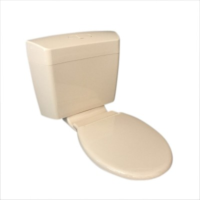 Caroma Uniset II Ivory Dual Flush Connector Toilet Cistern & Seat 6/3 Litre 247001I