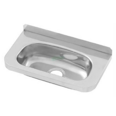 Compact Wall Hand Basin 400mm X 215mm Stainless Steel HBC