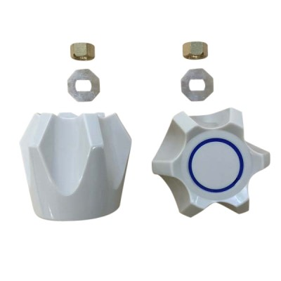 Dorf Diamond Tap Handles Acrylic Ivory (Pair)