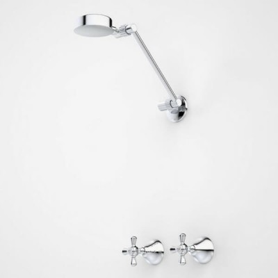 Dorf Eltoro Cross Shower Tap Set Chrome 2657.043A