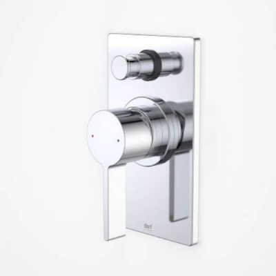 Dorf Enigma Bath Shower Mixer Diverter Square Chrome 6483.04