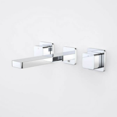 Dorf Epic Bloc Wall Basin Bath Tap Set 180mm Chrome 6219.045A