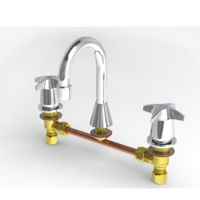 Enware CS306 Basin Tap Set With Sp001 Spout Jumper Valve