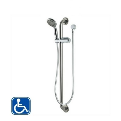 Enware SGR023 White Hand Shower And Hose 900mm Stainless Steel Grab Rail