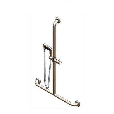 Enware SGR027CT Chrome Hand Shower With Centre Inverted T Grab Rail