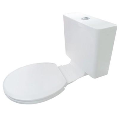 Everhard Kuga White Plastic Link Cistern & Soft Close Seat