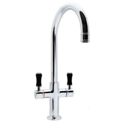 Ewing Pepper Twinner Sink Mixer Black Chrome 5 Star 6 L/Min MT23B