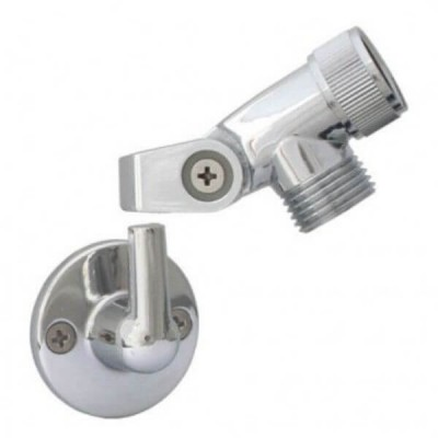 Ewing Shower Round Pin Bracket With Swivel Elbow Chrome HSA70