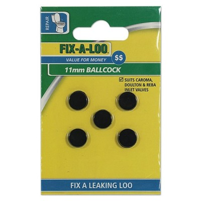 Fixaloo Ballcock Washer 11mm (Card 5) 226310