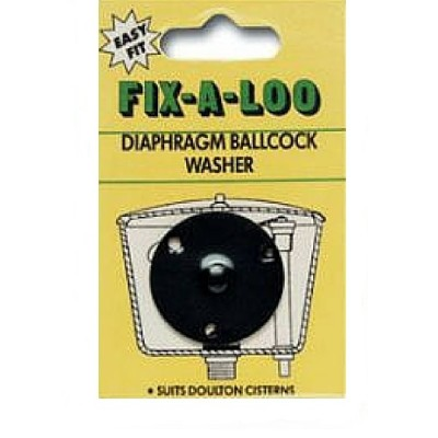Fixaloo Diaphragm Headseal Washer Black (Card) 226181