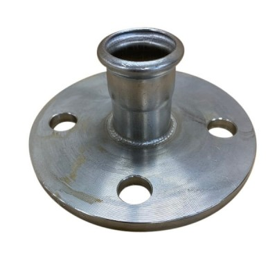 35mm Flange Adaptor Socket Table E Press Stainless Steel