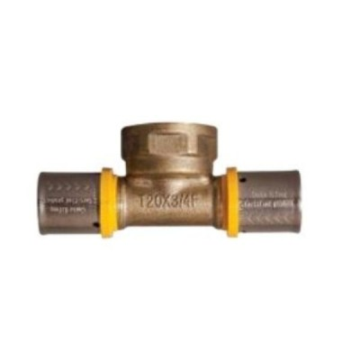 20 X 15mm BSP Ctr X 20 Tee Female Gas Water Pex