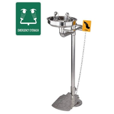 Gentec Ecosafe Floor Mount Pedestal Eye Face Wash And Foot Pedal ECO4000FPEXP
