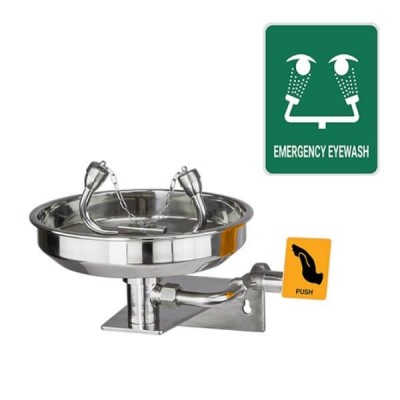 Gentec Ecosafe Wall Mount Eyewash Stainless Steel ECO4010EXP