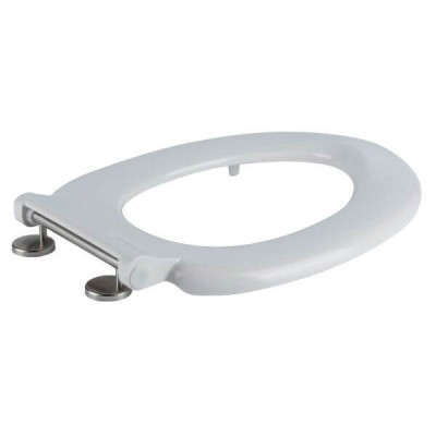 Haron Melrose White Toilet Seat With Locking Buffers Top & Bottom Fix Hinges TS-775