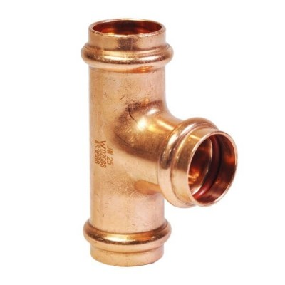 25mm Tee Equal Solar High Temp Water Copper Press