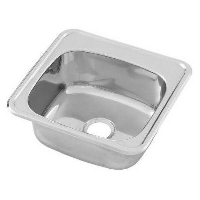 Inset Hand Basin 500 X 405 No Tap Hole Stainless Steel HBF01-KIT