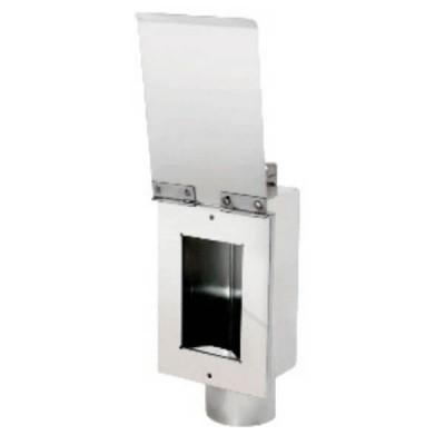 MAG 78009 Washing Machine Hose Stainless In Wall Tundish Hinged Plate