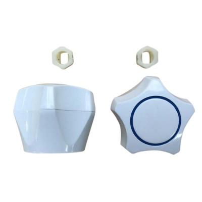 Multifit Plastic Tap Handle & Button White