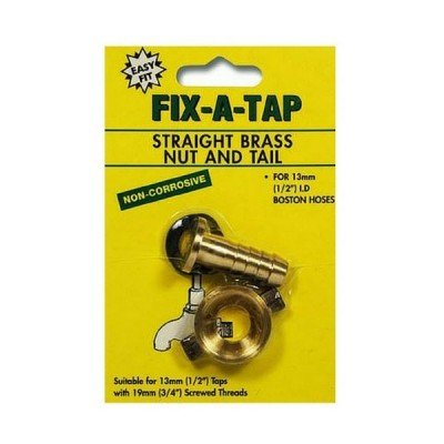 "Nut & Tail Brass 3/4"" X 1/2"" Fixatap 209153"
