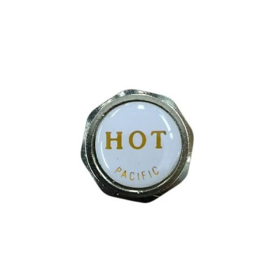 Pacific Tap Handle Button Hot White Gold 19mm X 5mm Deep TP9248