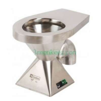 Pedestal Toilet Pan S Trap Stainless Steel WC-SSPS