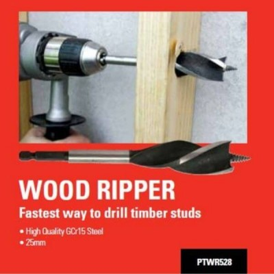 Plumtool Wood Ripper Drill Bit 25mm GCR15 Steel PTWR528