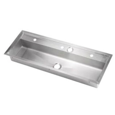 1500mm Drop In Practical Activities Wash & Bubbler Trough Centre Outlet 304 Stainless Steel PT-8-1500