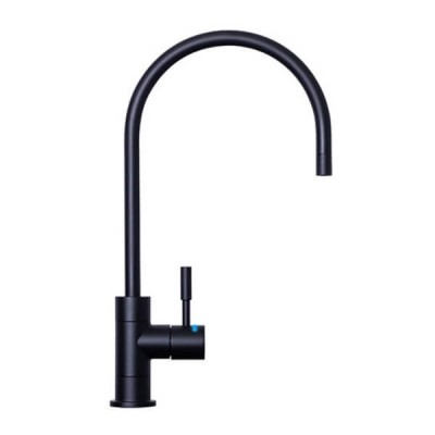 Puretec DFU200 Matt Black Designer Faucet LED Reminder Light High Loop 1/4 Turn