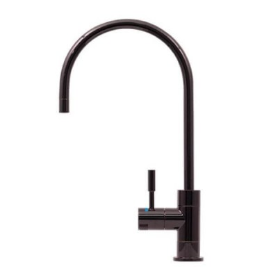 Puretec DFU220 Polished Black Designer Water Filter Faucet With LED Reminder Light