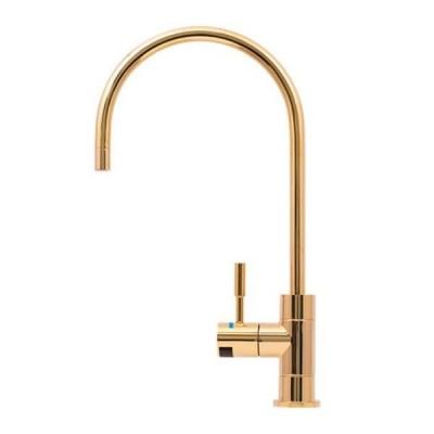 Puretec DFU280 Polished Gold Designer Water Filter Faucet With LED Reminder Light