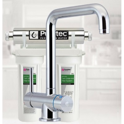 Puretec ESR2-T5 Undersink Ultraviolet Rain Water Filter Tripla 3 Way LED Mixer Tap