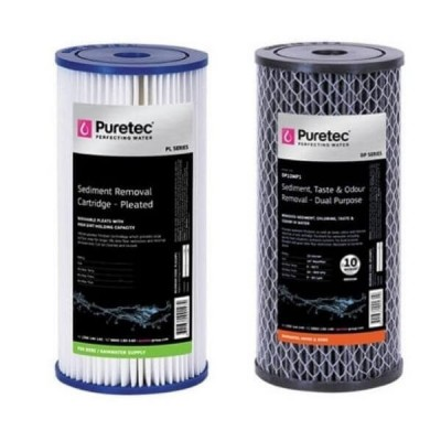 Puretec Hybrid G6 & R1 Dual Filter Cartridge Kit PL05MP1 - DP10MP1 10""