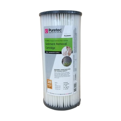 Puretec PL20MP1 Pleated Sediment Water Filter Cartridge