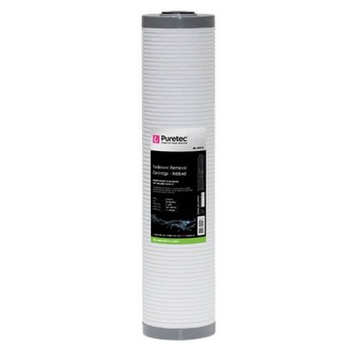 "Puretec RB25MP2 25 Micron Ribbed Sediment Water Filter Cartridge 4.5"" X 20"""